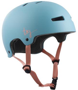 TSG Women Evolution Satin Porcelain Blue Skate Helmet