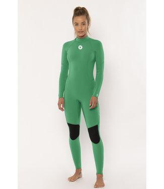 SisstrEvolution 7 Seas 3/2 Backzip Full Camp Green Wetsuit