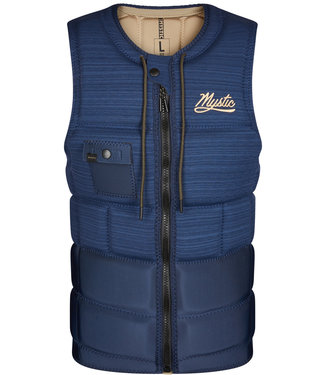Mystic Outlaw Wake Impact Vest Night Blue Front Zip