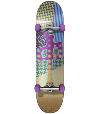 """Red Dragon 7.75"""" Patterns Multicolored Skateboard Complete"""