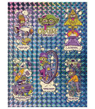 Creature Freaks Prismatic Sticker Sheet Assorted Color