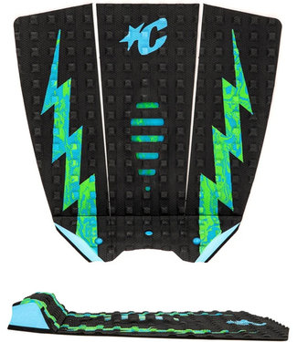 Creatures Of Leisure Mick Eugene Fanning Lite Black Cyan Green Swirl Small Wave Traction