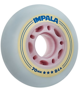 Impala Inline Wheels 70mm 84A Skyblue Yellow (4 pack)