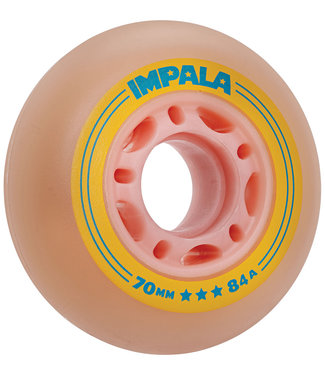 Impala Inline Wheels 70mm 84A Pink Yellow (4 pack)