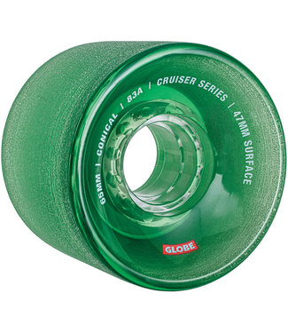 Globe Conical Cruiser Wheels - 65 mm 83A Clear/Forest