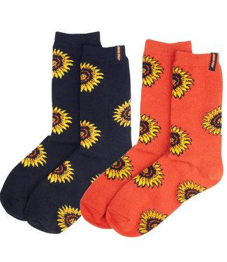 Santa Cruz Womens Sunflower Socks (2-Pack) O/S