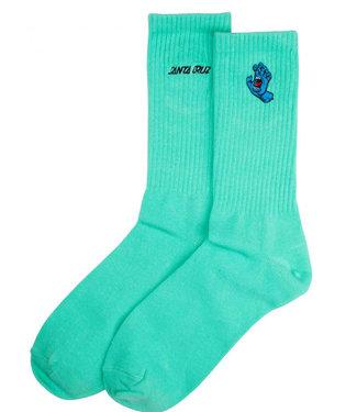 Santa Cruz Screaming Mini Hand Socks Jade Green O/S