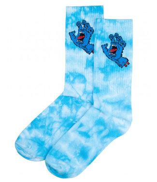 Santa Cruz Screaming Hand Socks Tye Die O/S