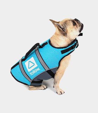 Follow Dog Floating Aid Vest Grey Teal L
