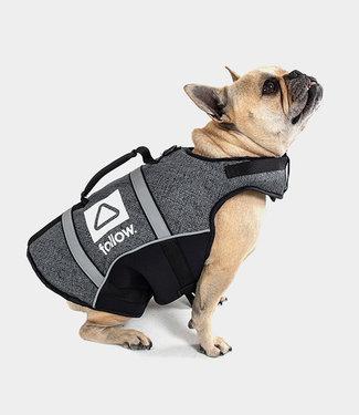 Follow Dog Floating Aid Vest Black M