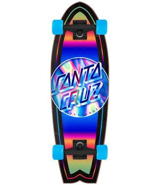 Santa Cruz Iridescent Dot Shark Complete Cruiser Black/Blue/Multi