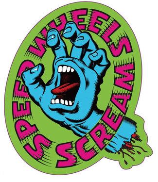 "Santa Cruz Screaming Hand Scream 4.33"" Sticker"