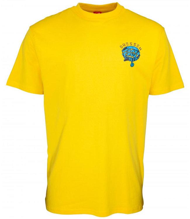 Santa Cruz Dressen Pup Dot Blazing Yellow T-Shirt