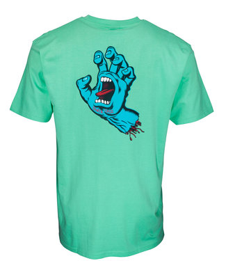 Santa Cruz Screaming Hand Chest Jade Green T-Shirt