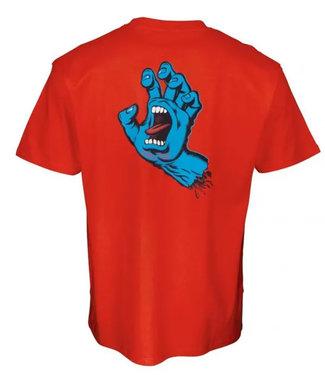 Santa Cruz Screaming Hand Chest Flame Red T-Shirt