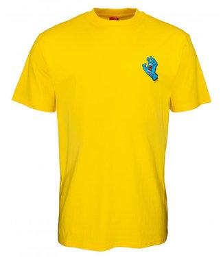 Santa Cruz Screaming Hand Chest Blazing Yellow T-Shirt