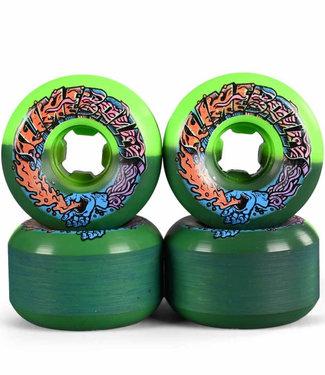 Santa Cruz 56mm 99A Greetings Speed Balls Green Black Skateboard Wheels