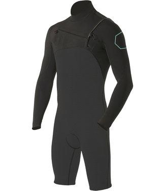 Vissla High Seas 2/2 mm Longsleeve Phantom Shortie Wetsuit