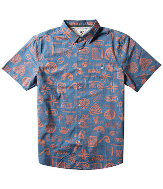 Vissla More Mate Less Hate Short Sleeve Shirt Super Blue