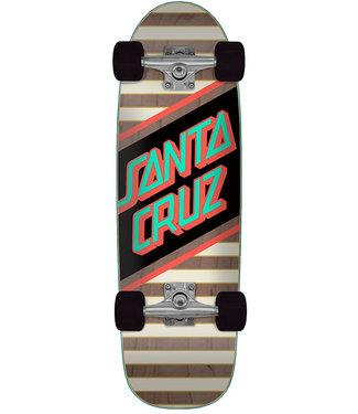 "Santa Cruz Street Skate 29.05"" Black Grey Complete Cruiser"