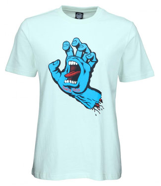 Santa Cruz Womens Screaming Hand Barely Blue T-Shirt