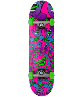 "Santa Cruz 7.75"" Mandala Hand Mini Pink Complete Skateboard"