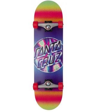 "Santa Cruz 8.25"" Iridescent Dot Large Skateboard Complete"
