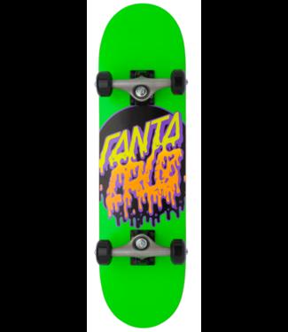 "Santa Cruz 7.5"" Rad Dot Micro Green Skateboard Complete"