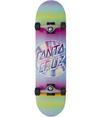 "Santa Cruz 8.0"" Iridescent Dot Full Complete Skateboard"