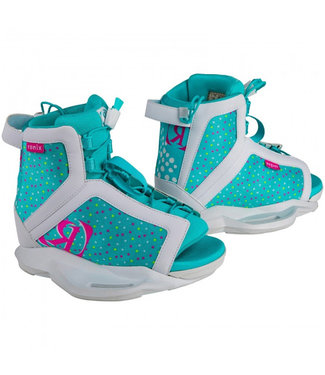 Ronix August White/Pink/Blue Orchid Gorl' Boots