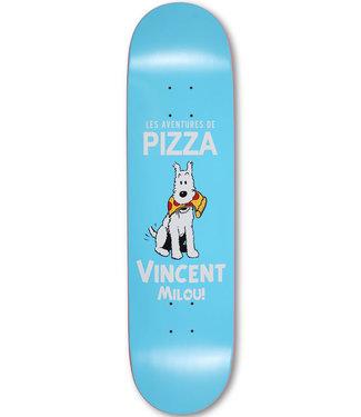 """Pizza Skateboards 8.25"""" Vincent Milou Debut Lightblue Skateboard Deck"""