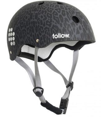 Follow Pro Graphic Leopard Wakeboard Helmet