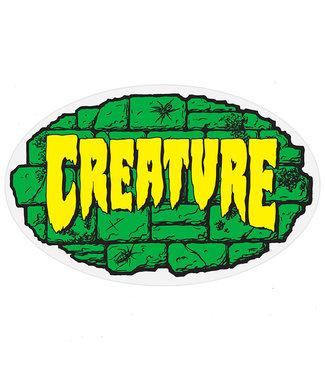 "Creature Crypt 4"" Green Yellow Sticker"
