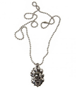 Creature Bonehead Necklace Antique Silver
