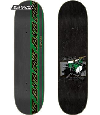 "Santa Cruz 8.25"" Braun Drum Kit Everslick Green Skateboard Deck"