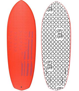 "Softdog Surf 5'8"" Greyhound Soft Surfboard (incl Fins)"