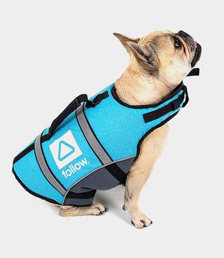 Follow Dog Floating Aid Vest Grey/Teal