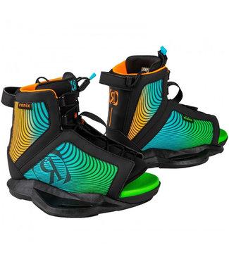 Ronix Vision Black/Orange/Green Kids' Wakeboard Boots