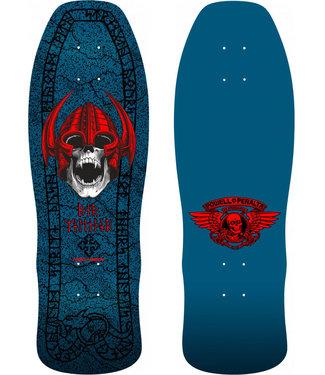 "Powell Peralta 9.625"" x 29.75 Welinder Nordic Skull Blue Skateboard Deck"