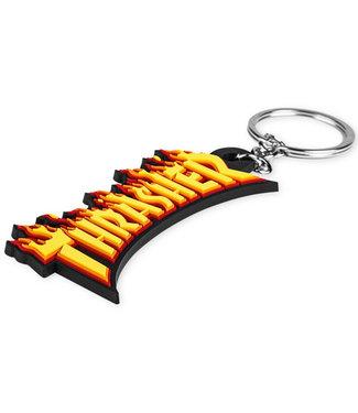 Thrasher Flame Keychain