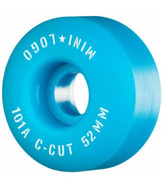 Minilogo 52mm 101A Blue C-Cut Skateboard Wheels