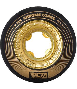 Ricta Chrome Core 52mm 99a Black/Gold Skateboard Wheels