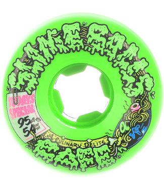 Santa Cruz Double Take Cafe Vomit Mini Green 95A 54mm Skateboard Wheels