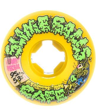 Santa Cruz Double Take Cafe Vomit Mini Yellow 95A 53mm Skateboard Wheels