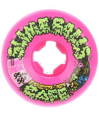 Santa Cruz Double Take Cafe Vomit Mini Pink 95A 56mm Skateboard Wheels