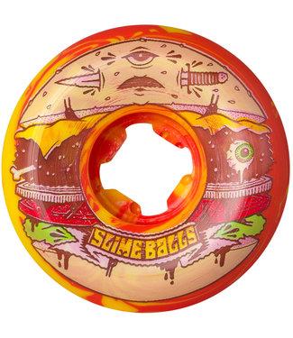 Santa Cruz Jeremy Fish Burger Speed Balls Red/Yellow 99A 56mm Skateboard Wheels