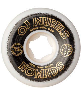 OJ Wheels Elite Nomads 57mm 95A White Skateboard Wheels