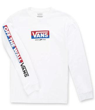 Vans Boys Easy Logo White Longsleeve T-shirt