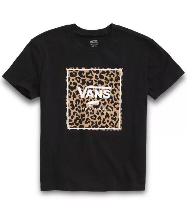 Vans Girls Leopard Print Box T-shirt