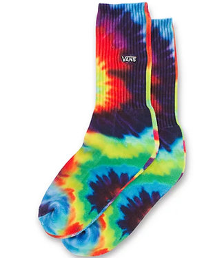 Vans Boys Spiral Tie Dye Crew Socks